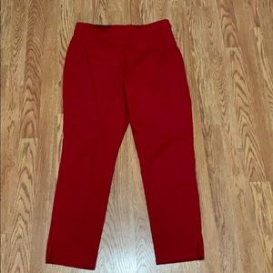 Red Sidezip ankle pants